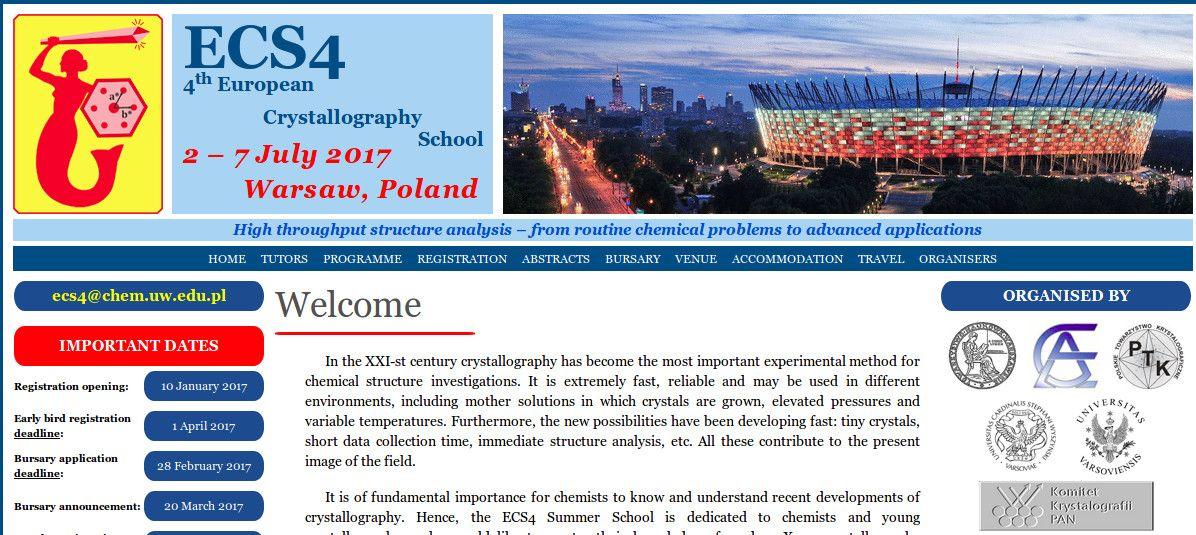4th European Crystallographic School (ECS4) - 2nd